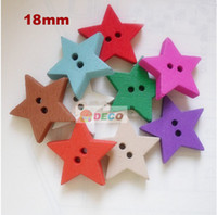 Quilt Accessories Buttons Beads Colorful star shape wooden buttons,cartoon buttons for kids,sewing accessories,scrapbooking accessories(SS-413)