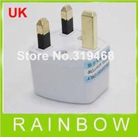 Wholesale Lowest Price FEDEX FREE RA White Universal US AU EU to UK AC Power Plug Travel Adapter England UK Plug