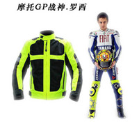 Wholesale Newest Moto GP Champion Reflective Motorcycle Jacket Safety Cycling Team Jackets With Elbow amp Shoulder Protective Pads