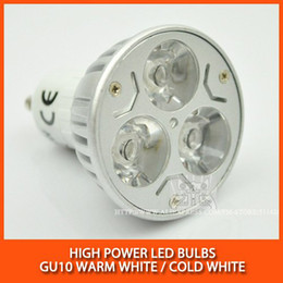 Wholesale High power led spotlight Bulb Lamp W W GU10 Warm white cold white Dimmable AC85 V