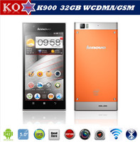 "Cheap Original Lenovo K900 (32G) Intel Atom Z2580 2.0GHz Dual Core 5.5"" IPS FHD1920x1080px 2GB 32GB 13.0 MP Camera Android 4.2 SmartPhone GPS BT"
