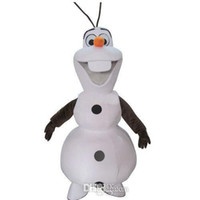 Mascot Costumes Animal Occupational New Design 100% Real Pictures! Free Shipping! 2014 New Deluxe Smiling Frozen Snowman Olaf Mascot Costume