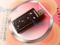 Wholesale free shinpping7 external USB sound card WIN7 independent sound card drive high quality options packages