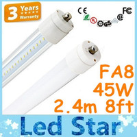 T8 lumens - 8feet FA8 Single Pin LED Tube Lights W lumens T8 m SMD Led LED Fluorescent Light Warm Natural Cool White AC V CUL FCC UL