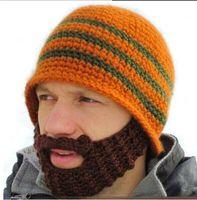 Wholesale Full Beard Beanie Mustache Mask Face Warmer Ski Winter Hat Cap Gift Adult Unisex warmly hats Creative design hot sale Drop Shipping