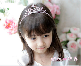 Wholesale Wholesales new frozen children girls hair accessories Princess baby hair comb hair girl Hair Combs large peacock tail diamond crown SP