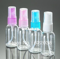 Water Bottles   Wholesale-hot selling 30ml airless pump bottle cosmetic plastic water bottles for liquids mini small spray atomiser free shipping