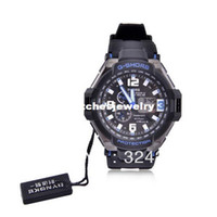 Wholesale SYNOKE Classic GMT Dural Time Display Sport Watch Black White Black Blue