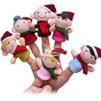 Unisex 0-12 Months Multicolor 6Pcs bag Happy Family Soft Plush Puppet Finger Toys Educational Story-telling Toy For Children
