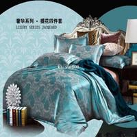 silk bedding - Noble Silk Bedding Set Luxury Comforter Set Jacquard Duvet Cover Bed Sheet Bed Cover Blanket