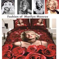 monroe bedding - New marilyn monroe bedding cotton active duvet covers pc fashion marilyn monroe comforter sets marry monroe bedlinen
