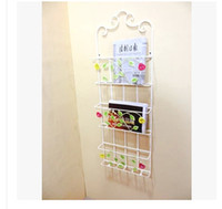 Metal magazine rack - Magazine rack wrought iron wall hanging frame BaoKanJia magazine rack Three layer rack shelf display stand is received