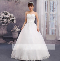 2014 New Design!Crystal Beads Bride Wedding Dress Strapless ...