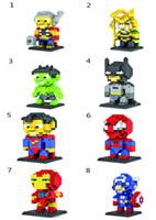 Wholesale LOZ Diamond blocks model building kids toys educational DIY block super heroes