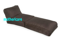 Yes fabric many assorted color  foldable long beach bean bag chair - Brown