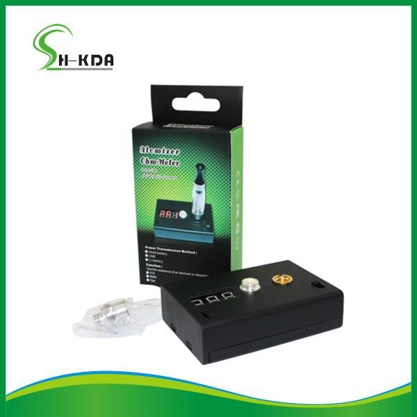 E Cig Tester : Ego electronic cigarette resistance ohm meter tester