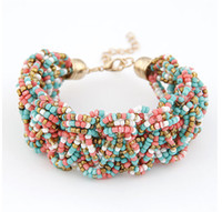 Wholesale Bohemia Vintage Wrap Bead Bracelet For Women Men Jewelry Beaded Strands Bracelets amp Bangles Christmas Gift S98192