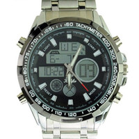 Sport alm sports - Multi functional CHM SPL ALM M Waterproof Dual Time Analog Digital Sports Watch with Stainless Steel Band Hot sale