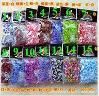 tie dye kit - Halloween TIE DYE colorful loom bands Wrist kit bracelet new DIY Rainbow loom Children gift toys Rubber band melange heat
