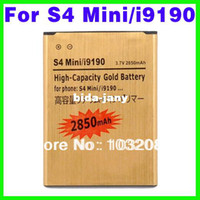 Wholesale High Capacity mAh Gold Battery For Samsung Galaxy S4 Mini i9190 i9192 i9195 i9198 Batterie Batterij
