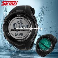 achat en gros de horloge numérique multifonctionnel-Army Watch Montres gros - SKMEI Hommes Sport Homme Robe Horloge 5ATM Dive Swim Mode numérique militaires multifonctionnels bracelets 1025
