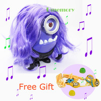Wholesale New Item new style portable Speaker Minions Speaker Purple Speaker Despicable Me USB TF speaker with FM for Computer DS A With Free Gift