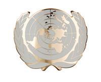 beret badges - UN UNITED NATIONS METAL BERET CAP METAL PIN BADGE GOLD