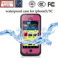 For Apple iPhone 5c Plastic White waterproof case for iphone 5c sealed IP68 waterproof protection full screen protects mobile phone