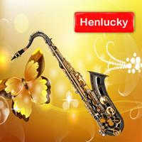 case bb - Black Nickel Gold Bb Tenor Saxophone with free case