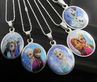 Wholesale 2014NEW Frozen Stainless Steel Pendant Necklaces Fashion Jewelry