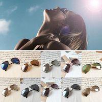 Wholesale Fashion Men Women Metal Shades Classic Retro Aviator Oversize Sunglasses