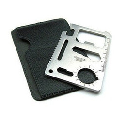 Wholesale 50pc in Pocket Multifunction Multi Credit Card Survival Knife Camping Tool