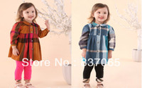 Wholesale New Year Arrival Designer Childrens Clothing amp Fashion Baby Kids Dress Sets Brand Plaid Dress clothing sets