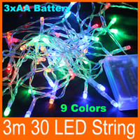 christmas lights and decorations - 3m led Battery operated LED garland string lights Christmas New year Holiday party luminaria decoration portable and safe lamps lighting