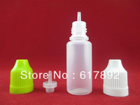 Plastic ZJ e liquid Wholesale - - 2500pcs lot PE 15ML e juice bottle With childproof cap long thin tip, 15ml plastic eye dropper bottle,15ml PE e liquid bottle