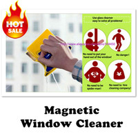 Wholesale Window Glass Cleaner Most Detailed instructions Magnetic Window Double Side Glass Cleaner sponge rubber Wiper Brush Squeegee