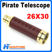 Wholesale Telescopic Monocular Outdoor X Telescopic Brass Zoom Adjustable Pirate Spyglass Nautical Telescope
