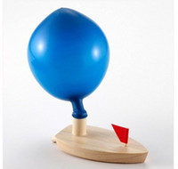 Wholesale 2014 The new style Europe and the United States sell hot schylling balloon wooden boat the child s favorite classic wooden toys