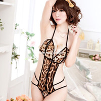 Women Kimono Asia & Pacific Islands New Hot Fashion Style Women Girl Sexy One piece Lingerie Crotch Costume Laced Corset Leopard Print Tights Lingerie B16 12840