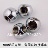 Yes Other  20pcs 10mm Beads chrome female threaded nuts 90 dimensions adapters tooth connector diy lamp accessories free shipping