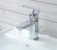 Basin Faucet Yes Single Holder Single Hole Basin Faucet Single Handle Water Taps Brass Hot Cold Mixer Tap Bathroom Sink Faucet Chrome Finish 1PC Free Shipping