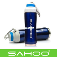 Wholesale SAHOO Cycling Bike Bicycle ml Double Wall Stainless Steel Sports Water Bottle Blue