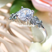 Band Rings Zircon / Rhinestone 18 ( inner diameter 18mm) 17(17mm inside Classic CZ engagement ring high simulation big diamond ring wedding rings women marry CrystalQS0601