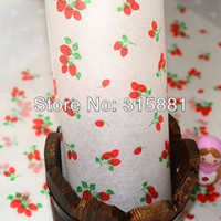 Wholesale Red strawberries Coating Paper For Sandwich Packaging baking oil paper