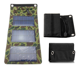 5W Высокая эффективность зарядное устройство открытый складной солнечной зарядки мешок панели солнечных батарей для Mobilephone Power Bank MP3 / 4 Свободная перевозка груза от Поставщики панель раз