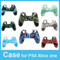 PS4/Xbox one   Silicone Case for PlayStation 4 PS4 Xbox one Controller Camouflage Soft Silicon Protective Sleeve Cover Skin High Quality Via DHL