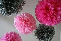 Wholesale Tissue Paper Pom Flowers Balls Wedding Party Decor quot quot quot quot quot for you choose