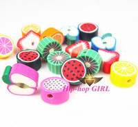 Pendant Necklaces Unisex HG0738-1 50pcs lot Polymer Clay Fruit Mixutre Colourful and Style 10MM Jewelry Accesory DIY HG0738-1