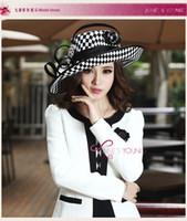Wholesale Fashion Women Hats Church Winter Satin Dress Hat Millinery Chapeau Formal Hat for Women Satin Ribbon
