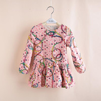 TuTu Summer other Export Kids Girls Spring 2014 The Department of Japanese Printed Ribbon Platter Full Skirt Children Long-sleeved Dress